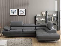 canapé d angle en cuir gris canapé d angle fixe cuir