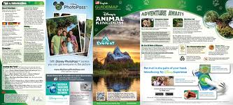 Animal World Map by 2014 Walt Disney World Park Maps With Fastpass Photo 1 Of 8
