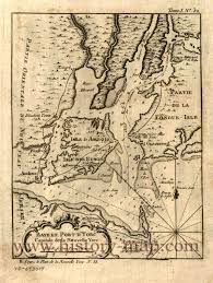 Map Of Old New York by York Harbor