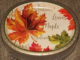 thanksgiving autumn leaves oval paper plates large 10 x 12