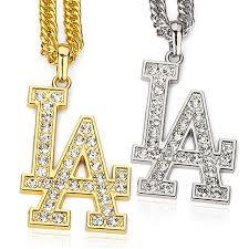 aliexpress buy new arrival men jewelry gold silver la letter pendant necklace men rock hip hop jewelry gold