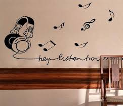 Wall Decal Quotes For Bedroom by Vinyl Wall Stickers Music Room Earphone Home Decor Bedroom