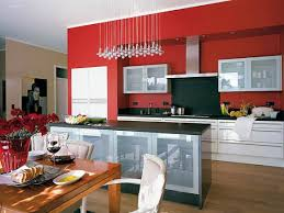 Red Kitchen White Cabinets Red Kitchen Walls White Cabinets Monsterlune