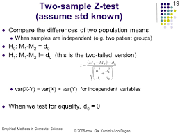 statistical methods in computer science hypothesis testing i