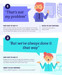 infographic 12 things you should never say at work and what to