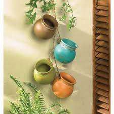 amazon com hanging southwest santa fe mini clay pot wall decor