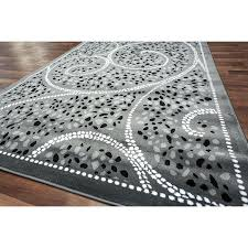 Modern Shag Area Rugs Black And Grey Area Rug Adca22 Org