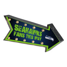 seahawks light up sign seattle seahawks sign marquee style light up arrow design special