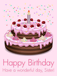 pink birthday cake card for sister birthday u0026 greeting cards by