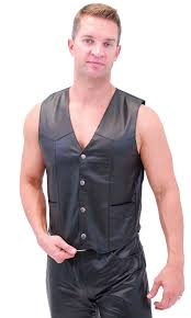 leather biker vest classic biker leather vest lightweight vm950pk