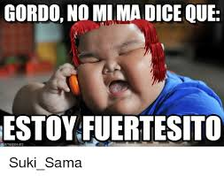 Gordo Meme - gordo no mima dice que estoyfuertesito suki sama meme on me me