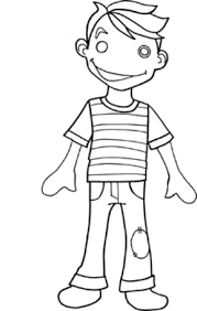 boy coloring free download