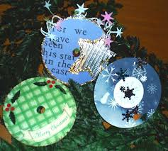 cd ornaments ornament craft project recycling ideas for