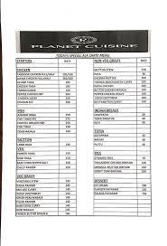 planet cuisine menu menu for planet cuisine ramanathapuram
