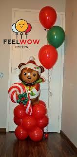 santa balloon delivery 122 best christmas balloon decor images on balloon