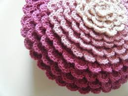 Crochet Patterns For Home Decor Diy Crochet Pattern Flower Pillow Round Pillow Cover