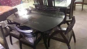 Dining Table  Seater In Attractive Design Brand New Home - Glass top dining table hyderabad