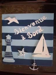 tableau theme cuisine tableau déco thème marin sujet en bois peinture acrylique sur