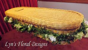 wicker casket wicker casket garlands lyn s floral designs florist in