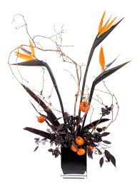 halloween floral centerpieces spooky bird of paradise design mellano u0026 company