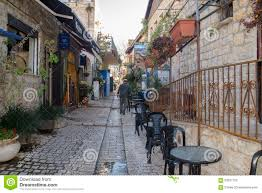 tzfat narrow street tzfat safed israel editorial image image