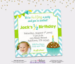 Birthday Invitation Cards For Kids First Birthday Half Birthday Invitation Boy 6 Month Birthday Invitation