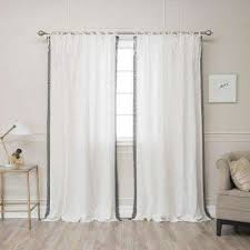 Ivory Linen Curtains Linen Curtains Drapes Window Treatments The Home Depot