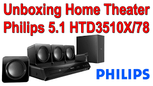 rca 5 1 dvd home theater system home theater philips htd3510x 78 5 1 unboxing youtube