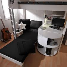 High Sleeper With Sofa And Desk Stompa Casa 4 White High Sleeper With Sofa Bed Pull Out Desk