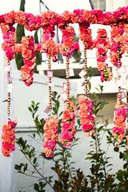 Flower Garland For Indian Wedding Fifty Shades Of Orange Wedding Inspiration
