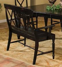 Dining Table With Bench With Back Dining Table With Bench And Chairs By Intercon Wolf And Gardiner