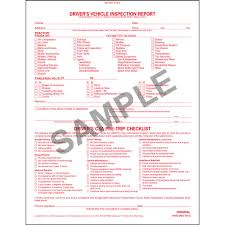 detailed driver u0027s vehicle inspection report w csa checklist book
