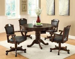 kitchen table with caster chairs game chairs with casters developerpanda