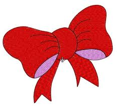 small bow machine embroidery design in 4 sizes to fit 4x4 hoop