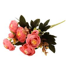 artificial flower decorations for home realistic autumn artificial fake peony flower home hotel room