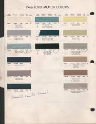 paint chips 1966 ford truck