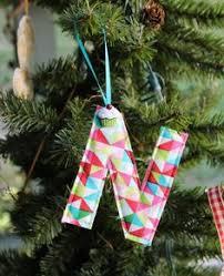 fabric origami tree ornaments set of three