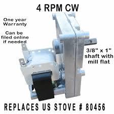us stove pellet corn auger u0026 agitator motor xp7004 4 rpm cw
