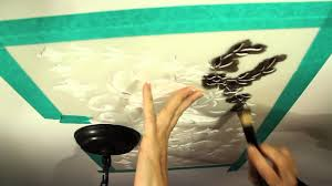stenciled ceiling medallion youtube