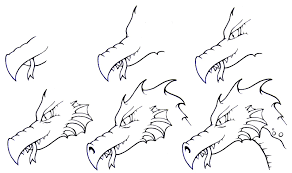 dragon head coloring pages steps to draw a dragon vtg how dragons for kids step 8 jpg