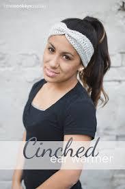 ear warmer headband cinched ear warmer headband pattern monkeys crochet