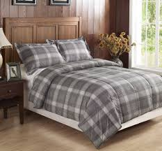 Twin Plaid Bedding by Brown Plaid Comforter Sets Vcny Home Baxter Reversible 3piece