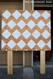 White Painted Headboard by Diy Geometric Planked Wood Headboard Tutorial For Under 100