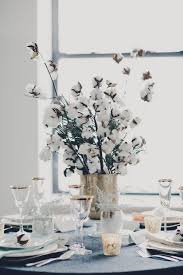 whimsical ideas of making cotton spray flower centerpieces