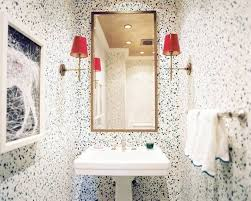 Wallpaper Powder Powder Room Decorating Ideas With Linen Look Wallpaper Powder