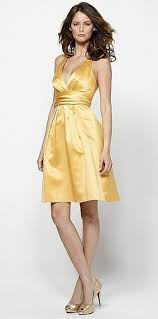 size 6 goldenrod watters soft satin short bridesmaid dress 1211