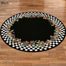 Black Round Area Rugs by Black Circle Rug Roselawnlutheran