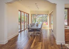 Rustic Wide Plank Flooring Interior Cute Picture Of Rustic Dining Room Decoration Using