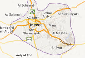 Mecca On Map Mecca By Hannah Berghol