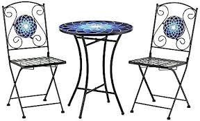 outdoor mosaic bistro table 3 piece bistro set outdoor mosaic bistro table set best mosaic